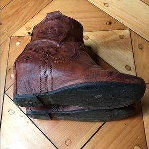 Frye Shoes - Cognac Frye Carson Wedge Bootie